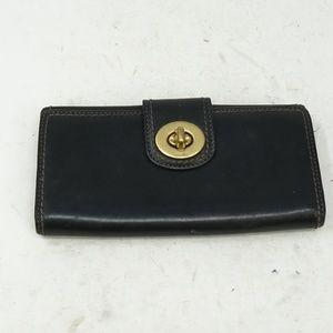Vintage Authentic Coach Leather Black Wallet
